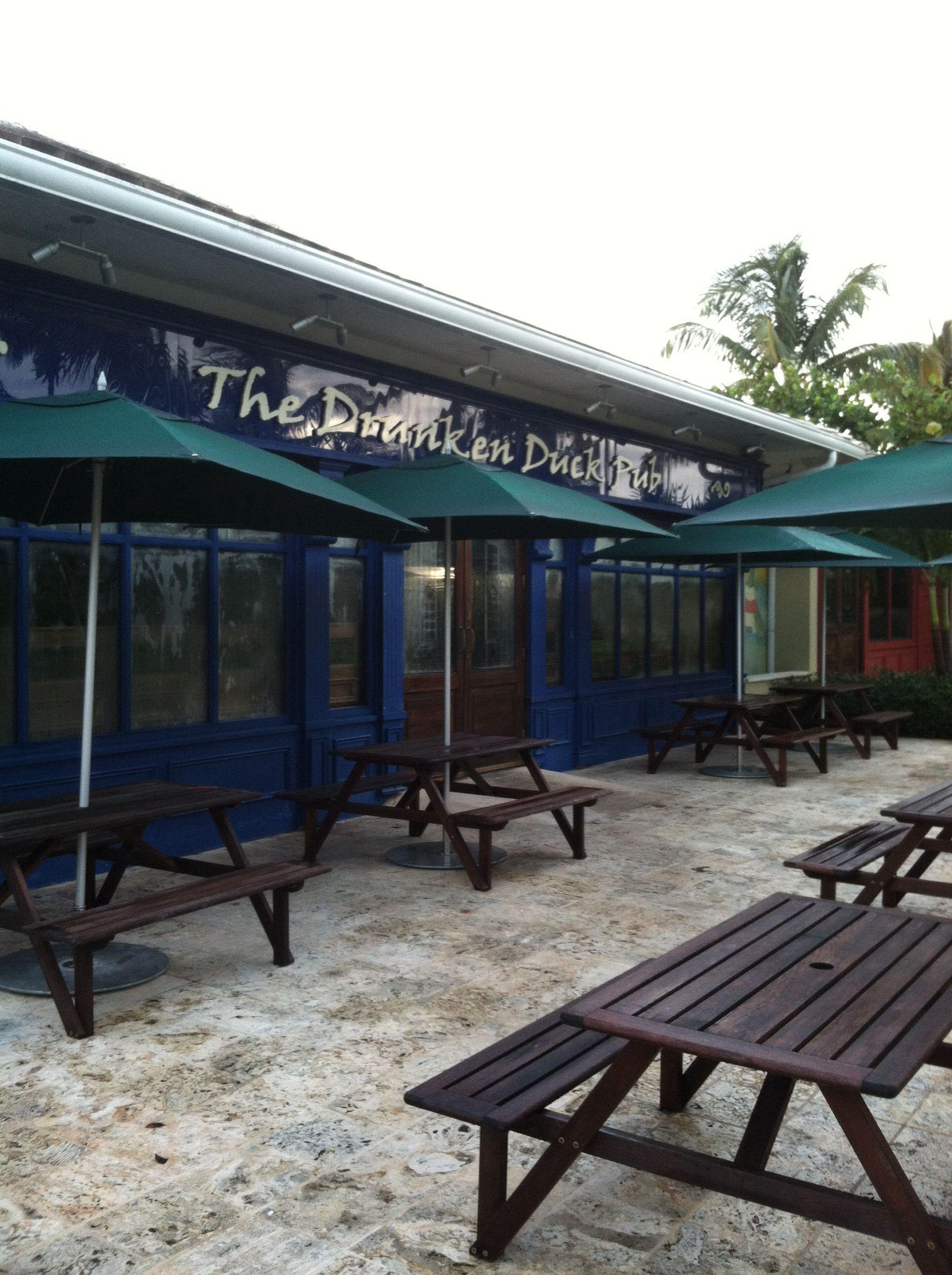The Front Of The Drunken Duck Pub Exuma Bahamas Great Exuma Sandals Emerald Bay