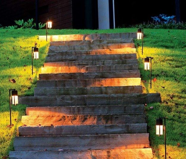 Five Ways To Light Up Your Yard Landscape Lighting Kits Backyard Landscaping Outdoor Path Lighting