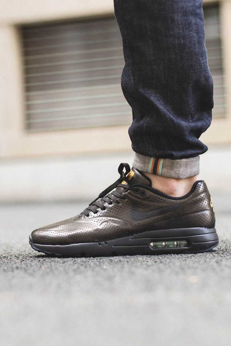 84501bbe6a Metallic #green uppers with a touch of gold on this latest NIKE Air Max 1  Ultra Moire release.