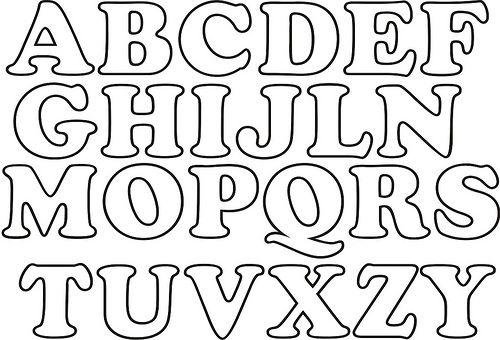 Abecedário - Letras do Alfabeto para imprimir - Ver e Fazer alfabeto ...