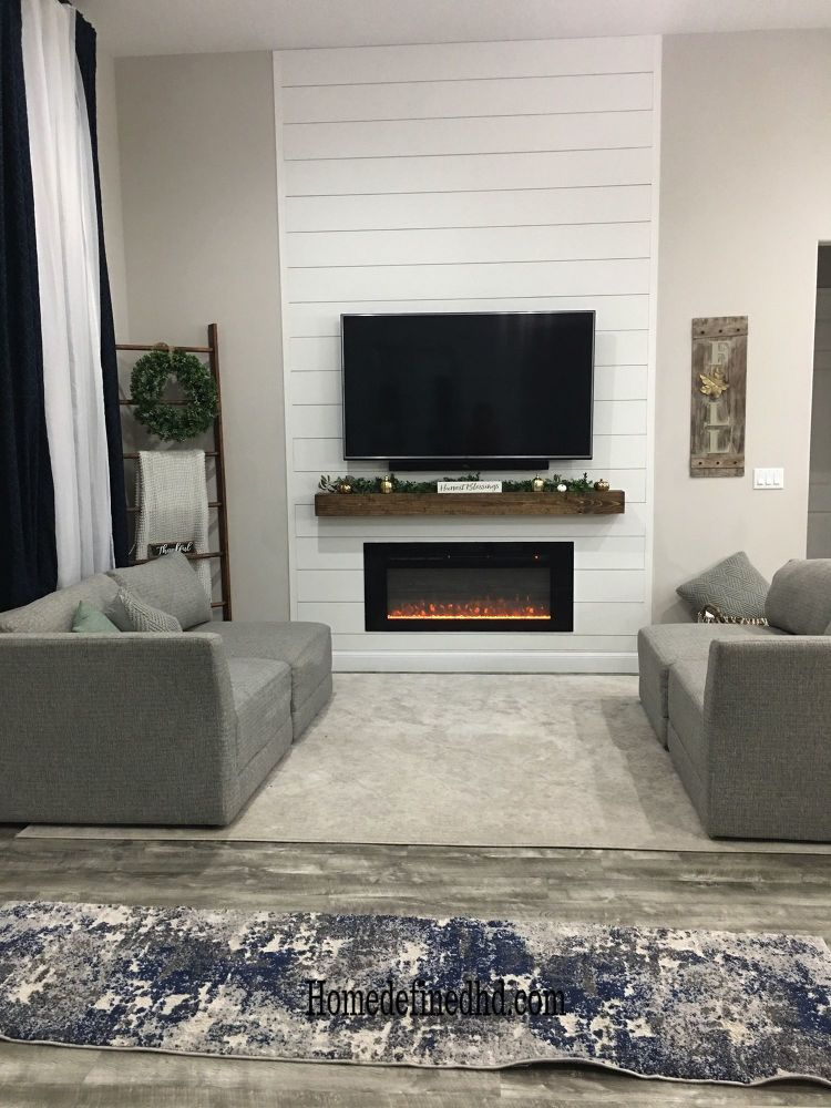 How to Make a DIY Shiplap Accent Wall Shiplap fireplace