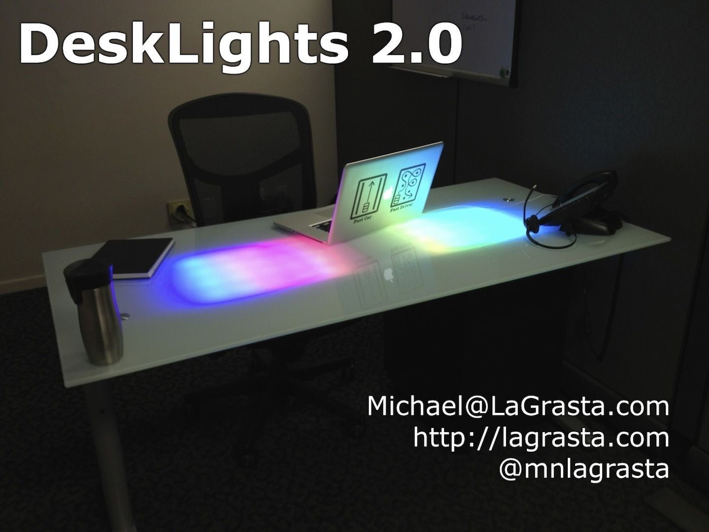 Notification desk maker faire led strip and ikea hackers materials ikea galant led strips arduino description network connected rgb leds provide event notifications by shining through a frosted glass desk mozeypictures Gallery