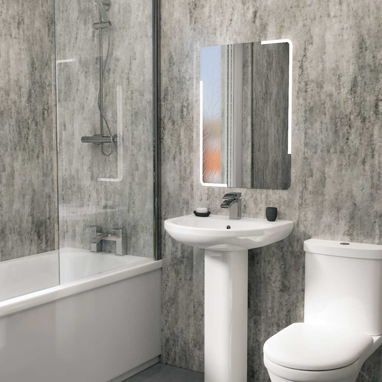 A Textured Metallic Finish Adds An Extra Element Of Style Use Our Silver Retro Metallic Wall Panel T Bathroom Wall Panels Wall Paneling Bathroom Shower Walls