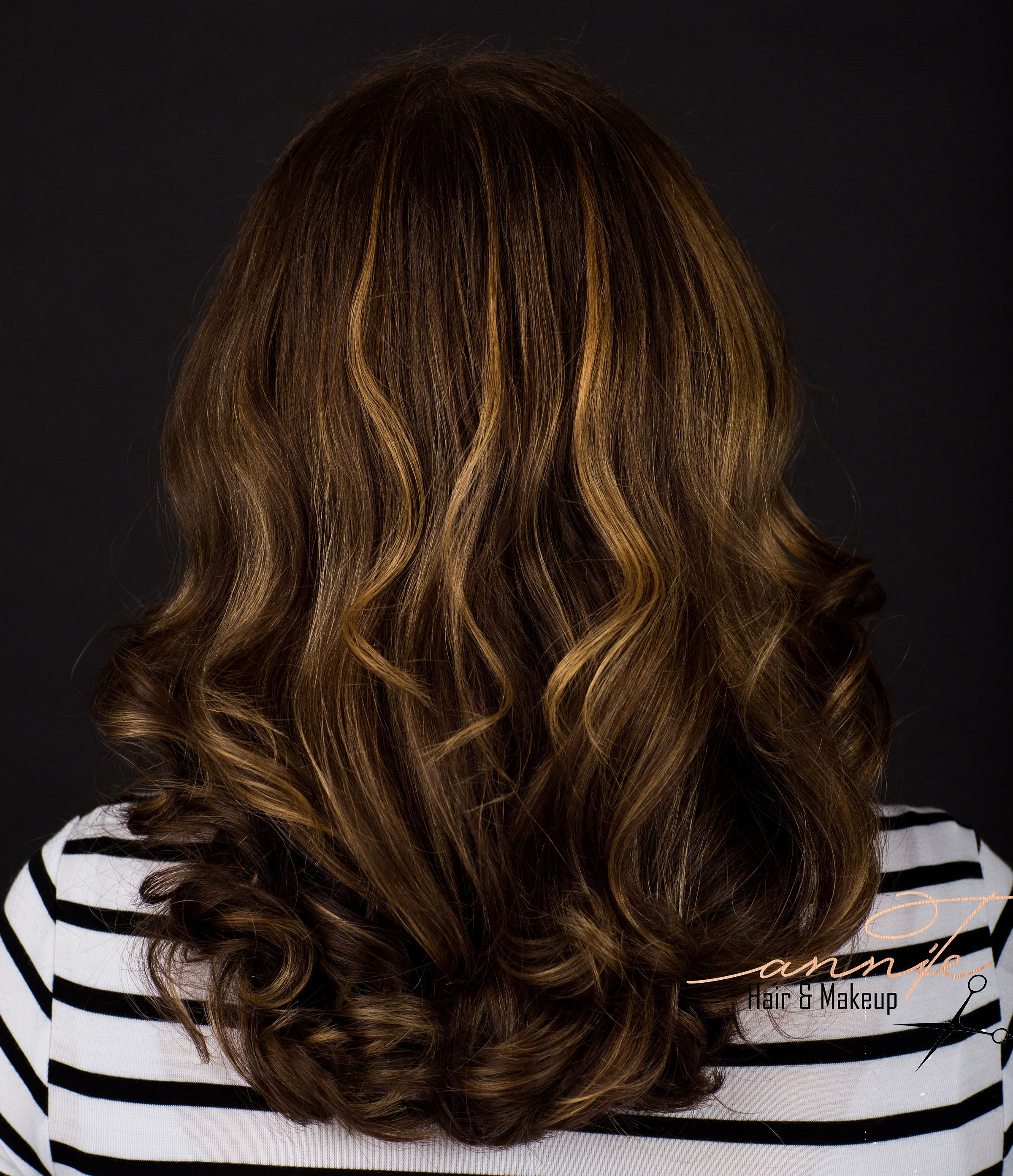 Balayage on dark brown hair @hair_with_annie_