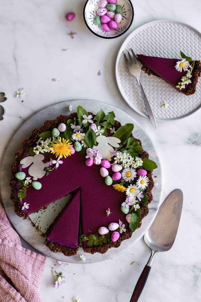 Photo of Heidelbeer-Tarte mit Schoko-Walnuss-Boden | vegan, glutenfrei | Flowers in the Salad