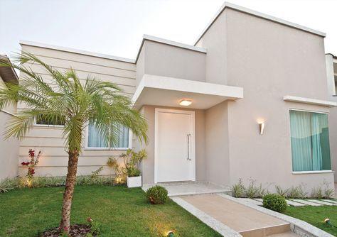Fachadas de casa com cores claras off white dicas de - Pintura para fachadas ...