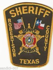New Roberson County Sheriff State Of Texas Police Patches Patches Patches For Sale