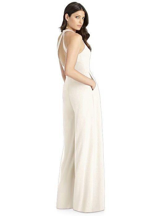 Dessy Shimmer Bridesmaid Jumpsuit Arielle LS #bridesmaidjumpsuits Dessy Shimmer Bridesmaid Jumpsuit Arielle LS | Bella Bridesmaids #bridesmaidjumpsuits