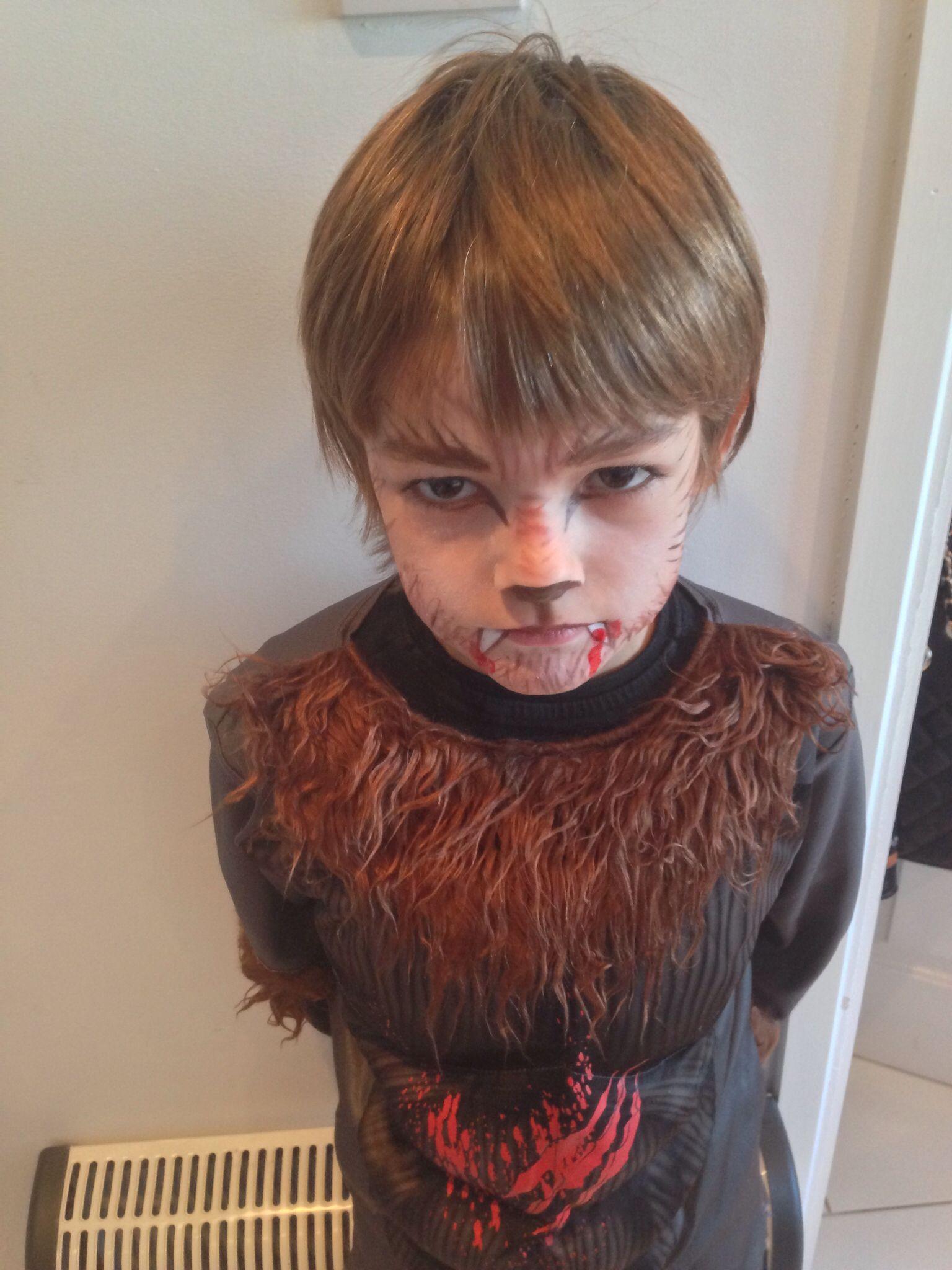 Werewolf face paint kids Halloween | Face painting | Pinterest ...