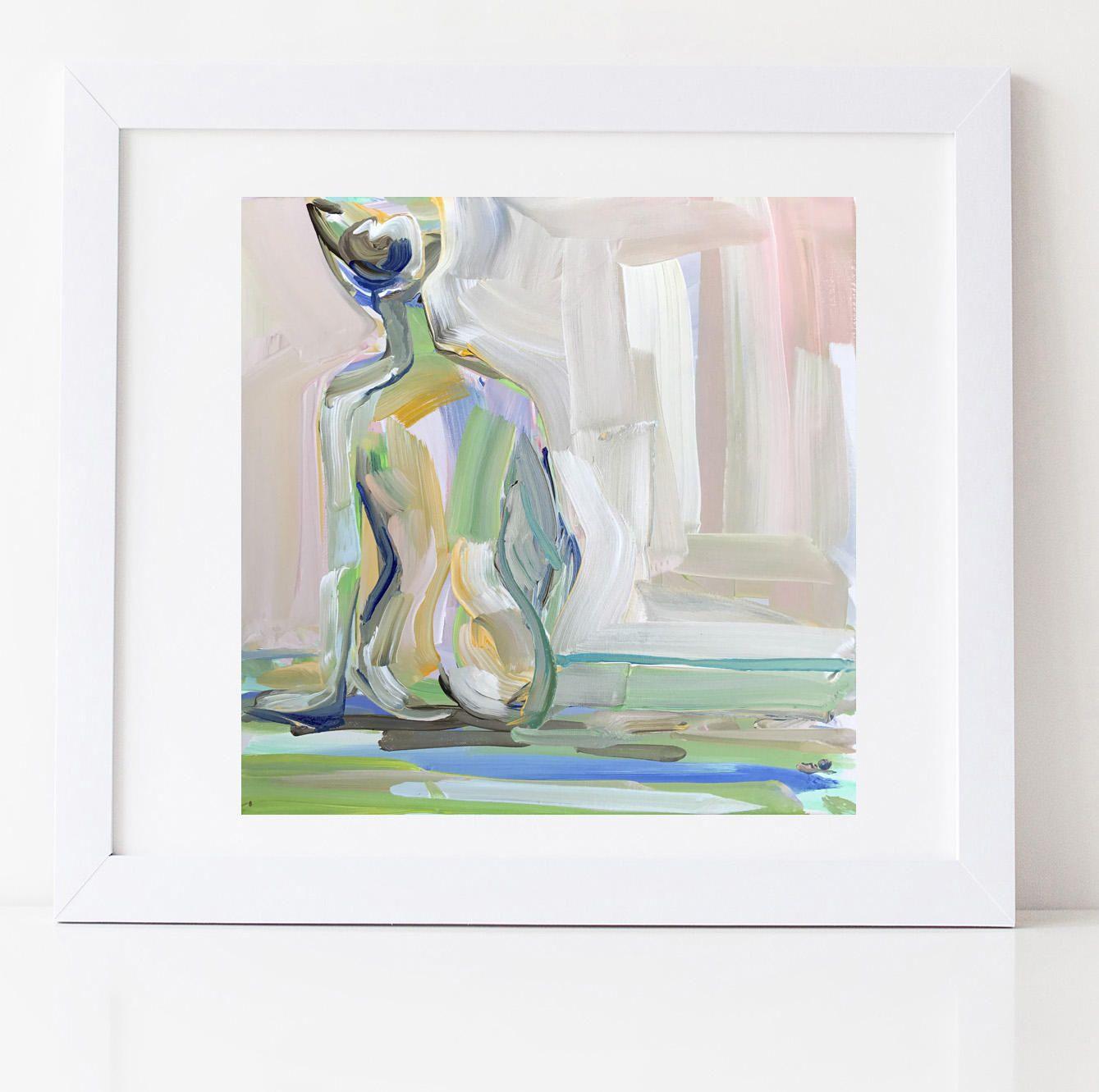 Impressionist PRINT Art Acrylic Painting Art Impressionism Figure ...