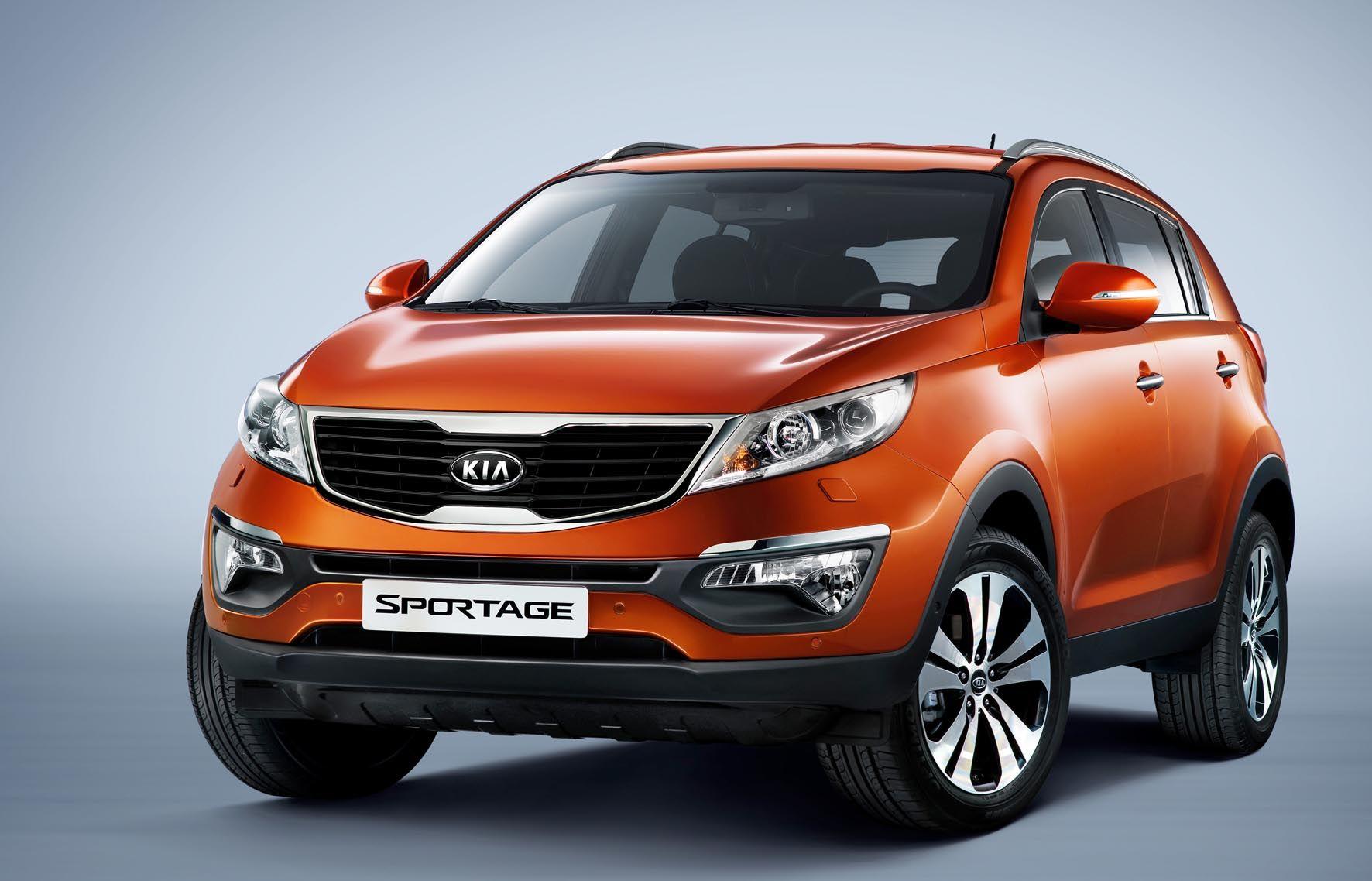 Kia Sportage in orange. kia sportage suv cars Kia