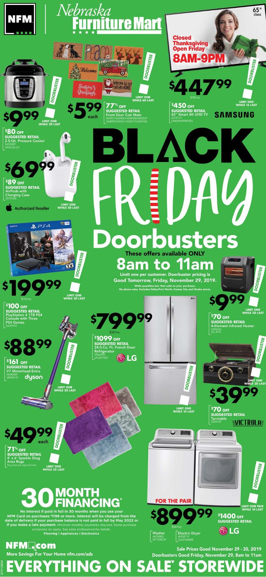 Nebraska Furniture Mart 13 Black Friday Ad (With images