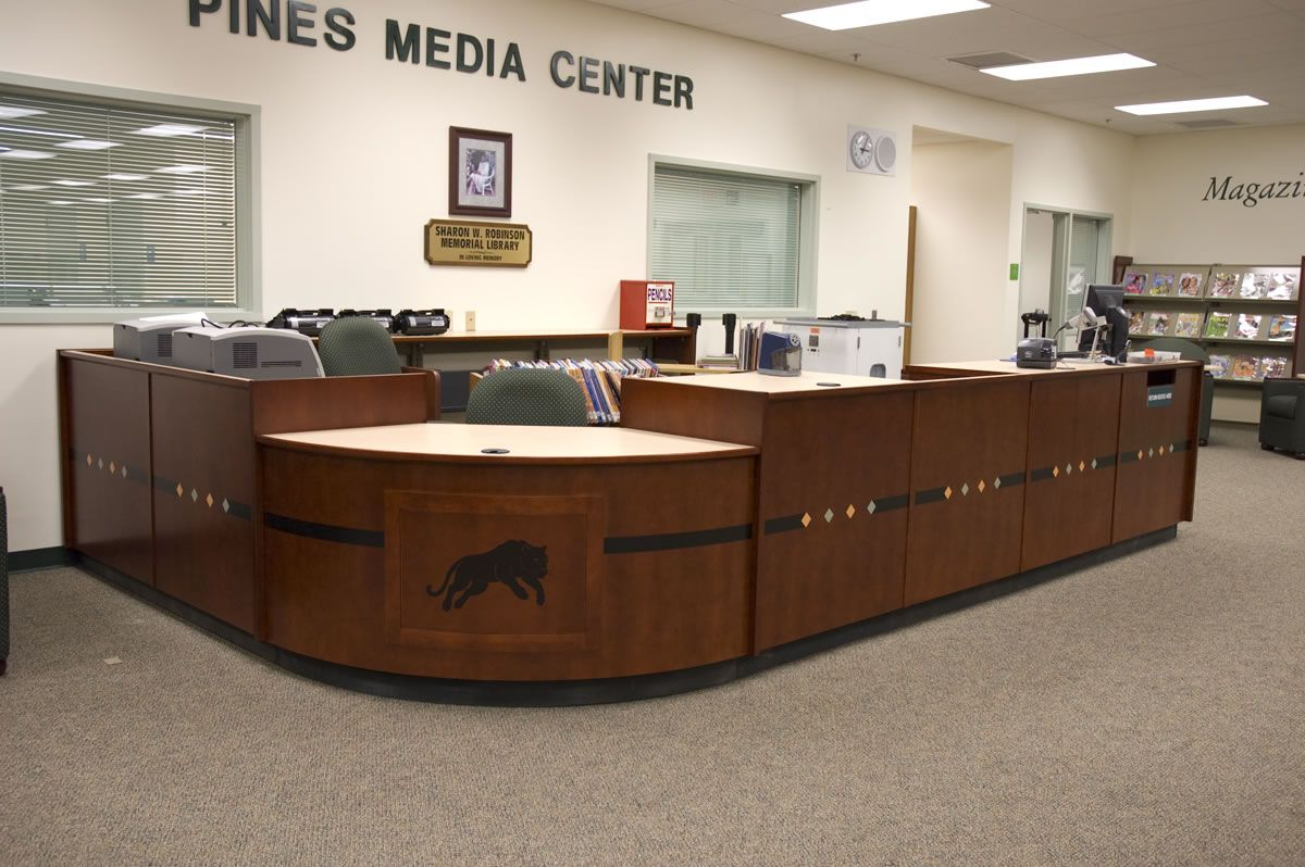 library furniture circulation desk - Google Search | Library ...