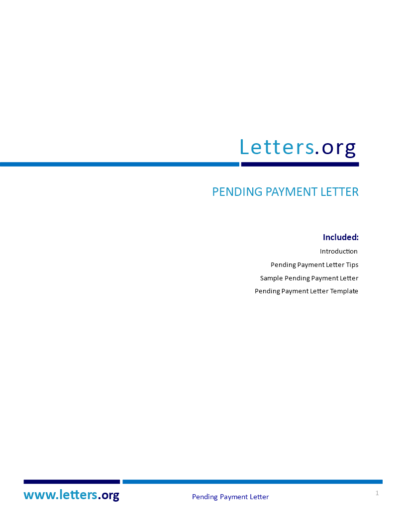 Pending Payment Letter - C74F5B-pending-payment-letter.docx. Easy ...
