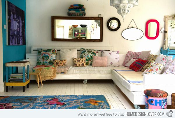 15 Bohemian Inspired Living Rooms