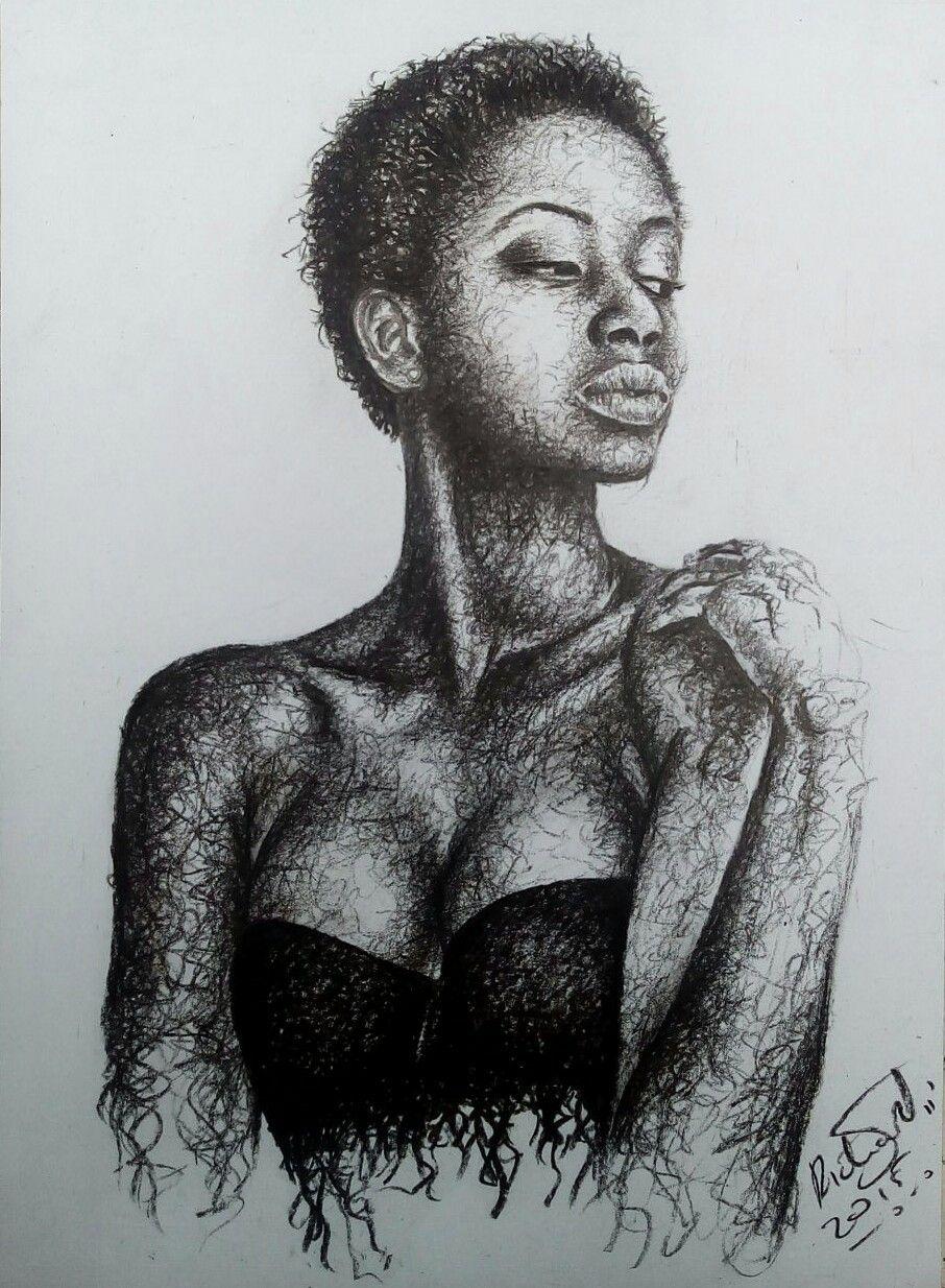 Figure study pencil on paper art by richie njogu