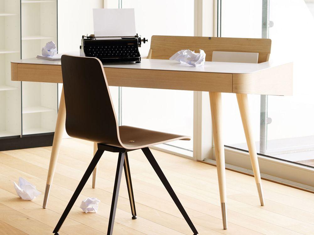 Bureau bois et blanc unique bureau design bois et blanc u mzaol