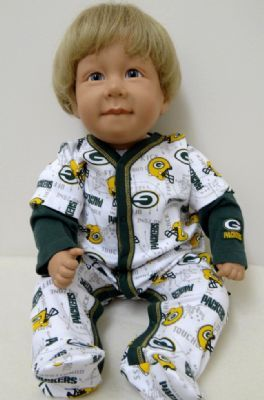Packers Newborn Layered Look Sleep-N-Play