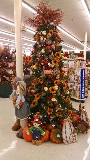 Beautiful Fall Themed Christmas Tree At Hobby Lobby Fall Christmas Tree Christmas Tree Themes Hobby Lobby Christmas