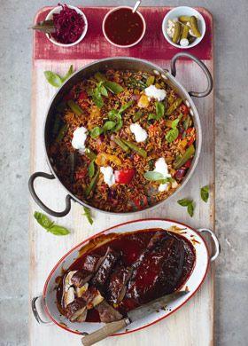 jamie oliver glazed pork fillet cajun style pepper rice bbq sauce food pinterest. Black Bedroom Furniture Sets. Home Design Ideas