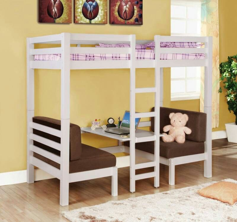 loft bed   love the little table and benches underneath  loft bed   love the little table and benches underneath    girl u0027s      rh   pinterest