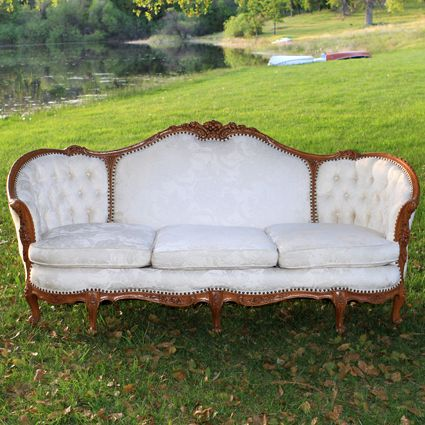 Ivory Vintage Couch Vintage Couch Vintage Sofa Antique Couch