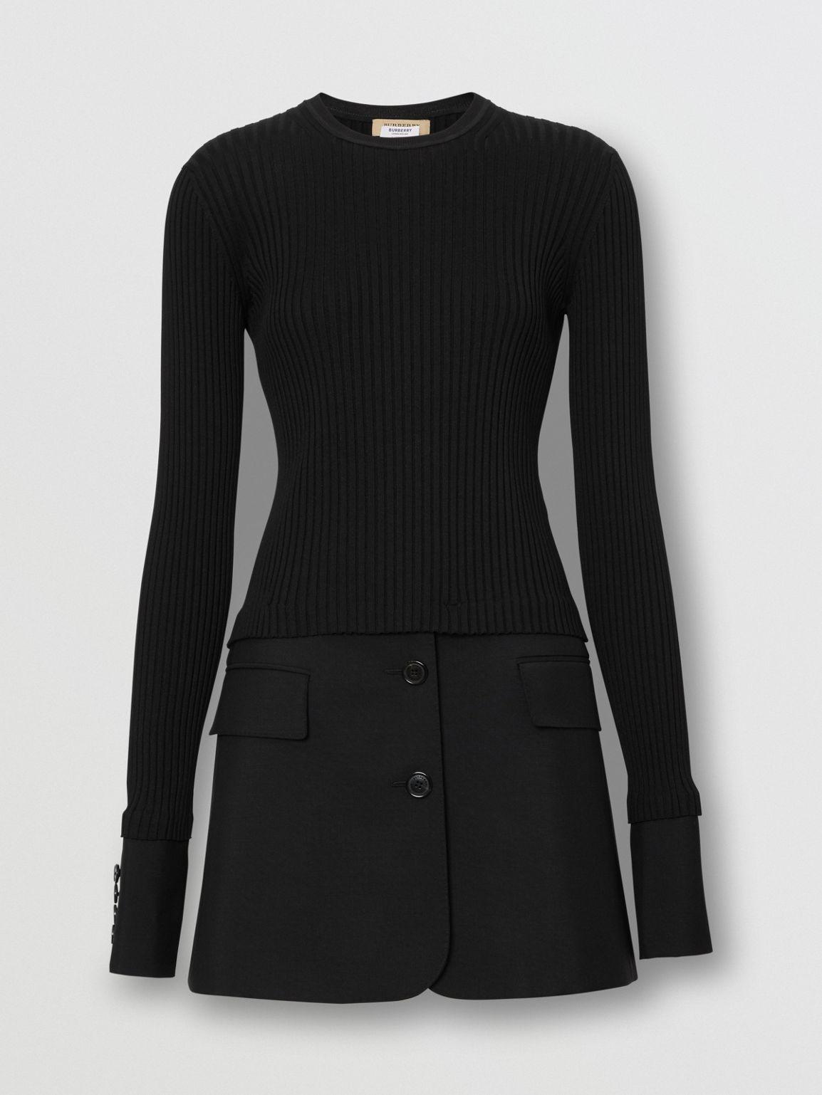 burberry wool knit dress