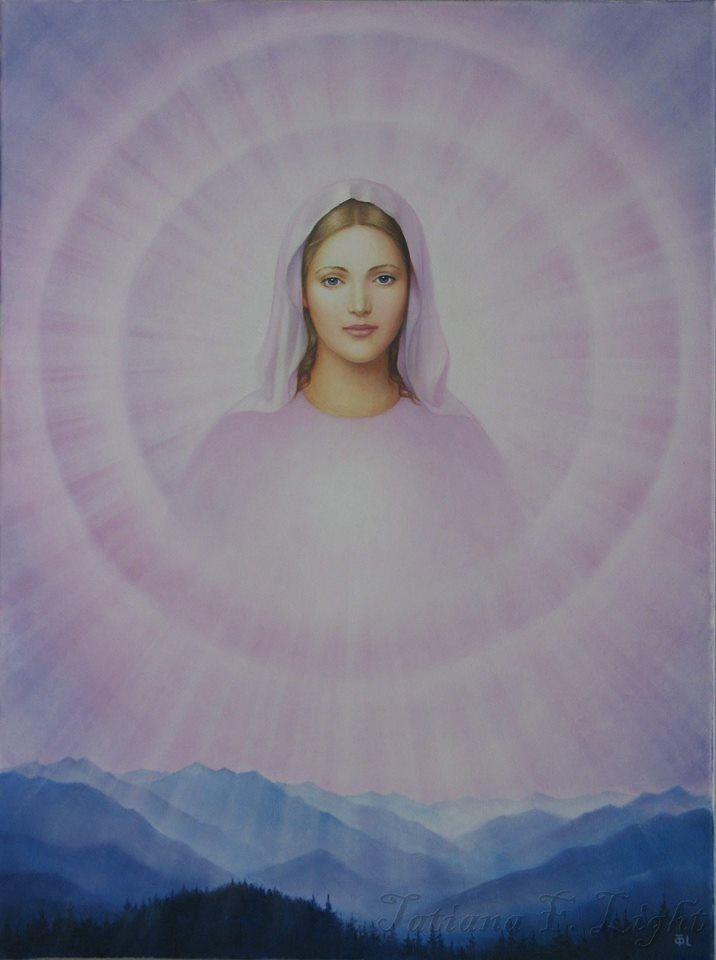«Shining Divine Mother»  painter  Tatiana F. Light «Сияющая Божественная Мать»