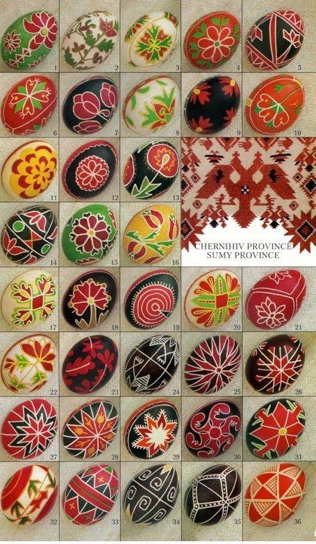 Decorar Huevos de Pascua 1232 Plantillas de Ucrania Decorando - huevos decorados