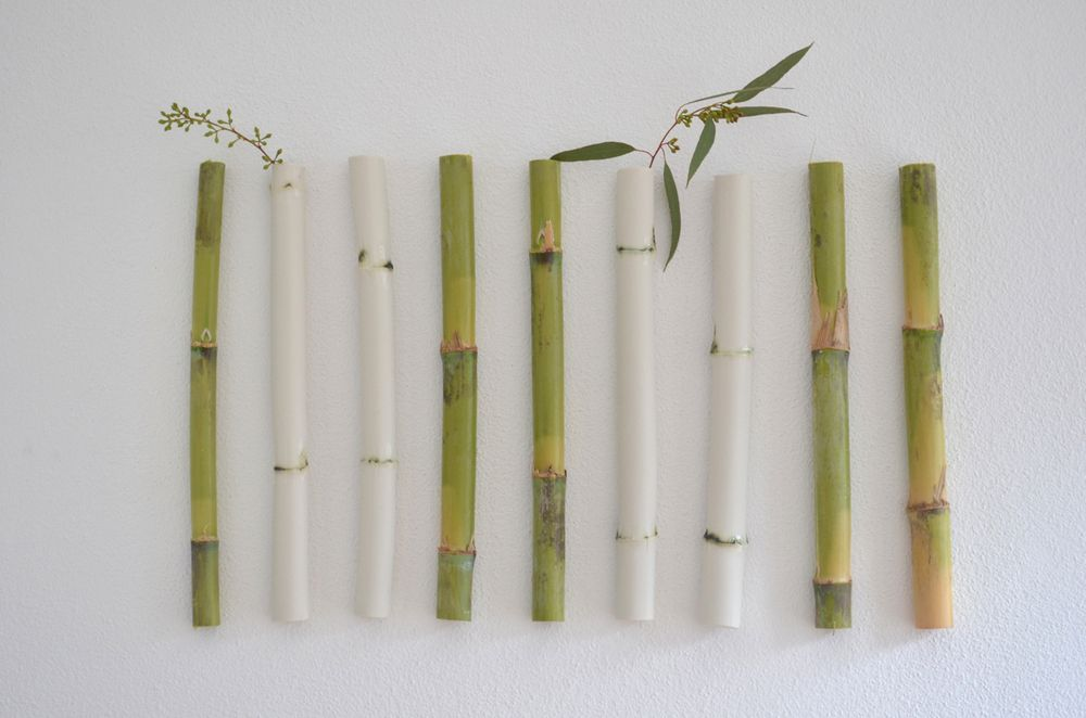 Wall reeds, porcelain pieces by Paula Valentim / Otchipotchi, in Portugal