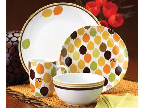 Rachael Ray Little Hoot 4-pc. Dinnerware Set