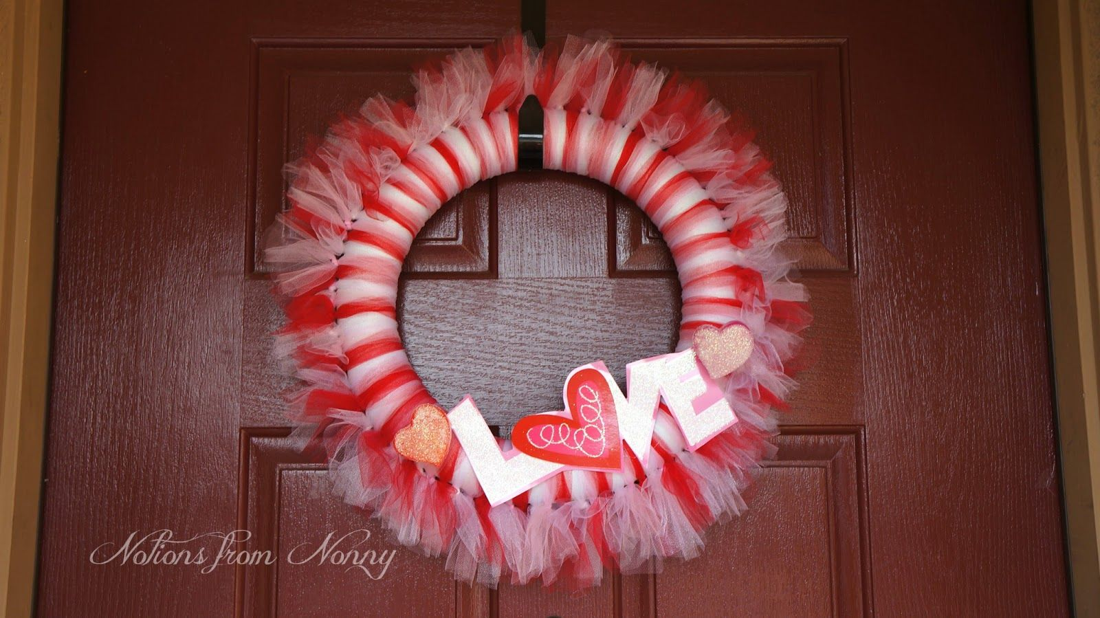 Notions from Nonny: Valentine's Day Tulle Wreath