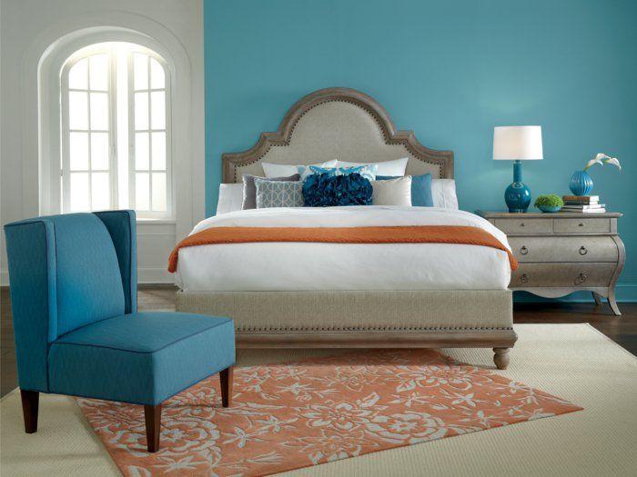wände streichen ideen hellblaue wandfarbe schlafzimmer eleganter - wände streichen ideen schlafzimmer
