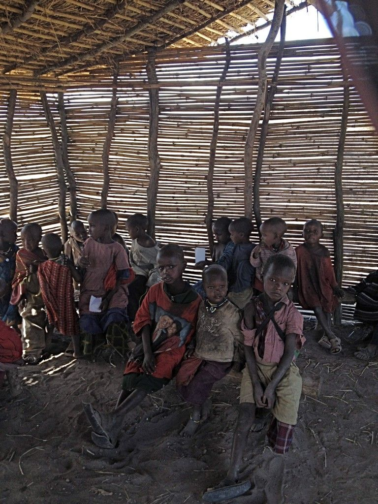Children in a Maasai village in Tanzania