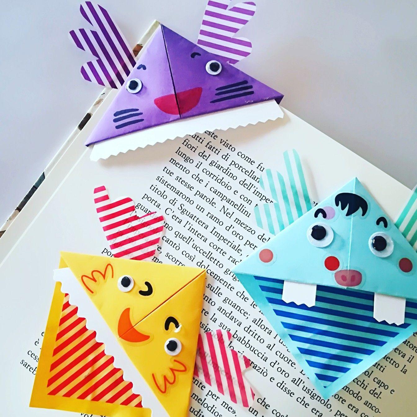 Origami Monsters Bookmark