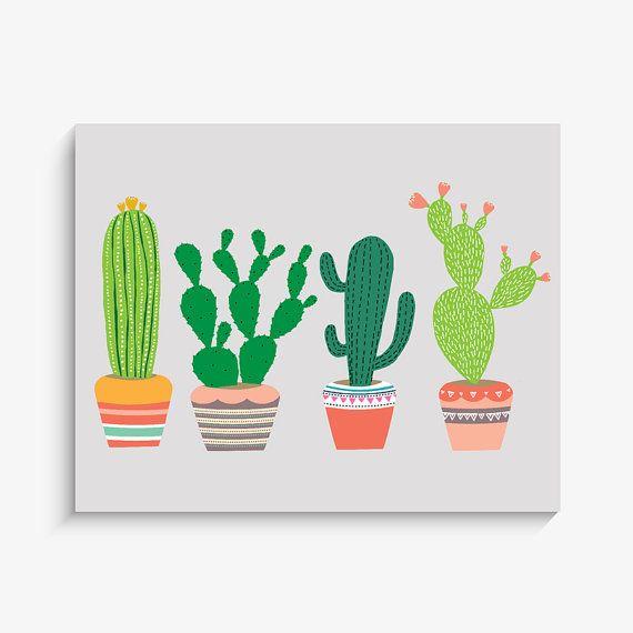 Southwest Cactus Art Print Home Decor Arizona par LucyDarlingPrints