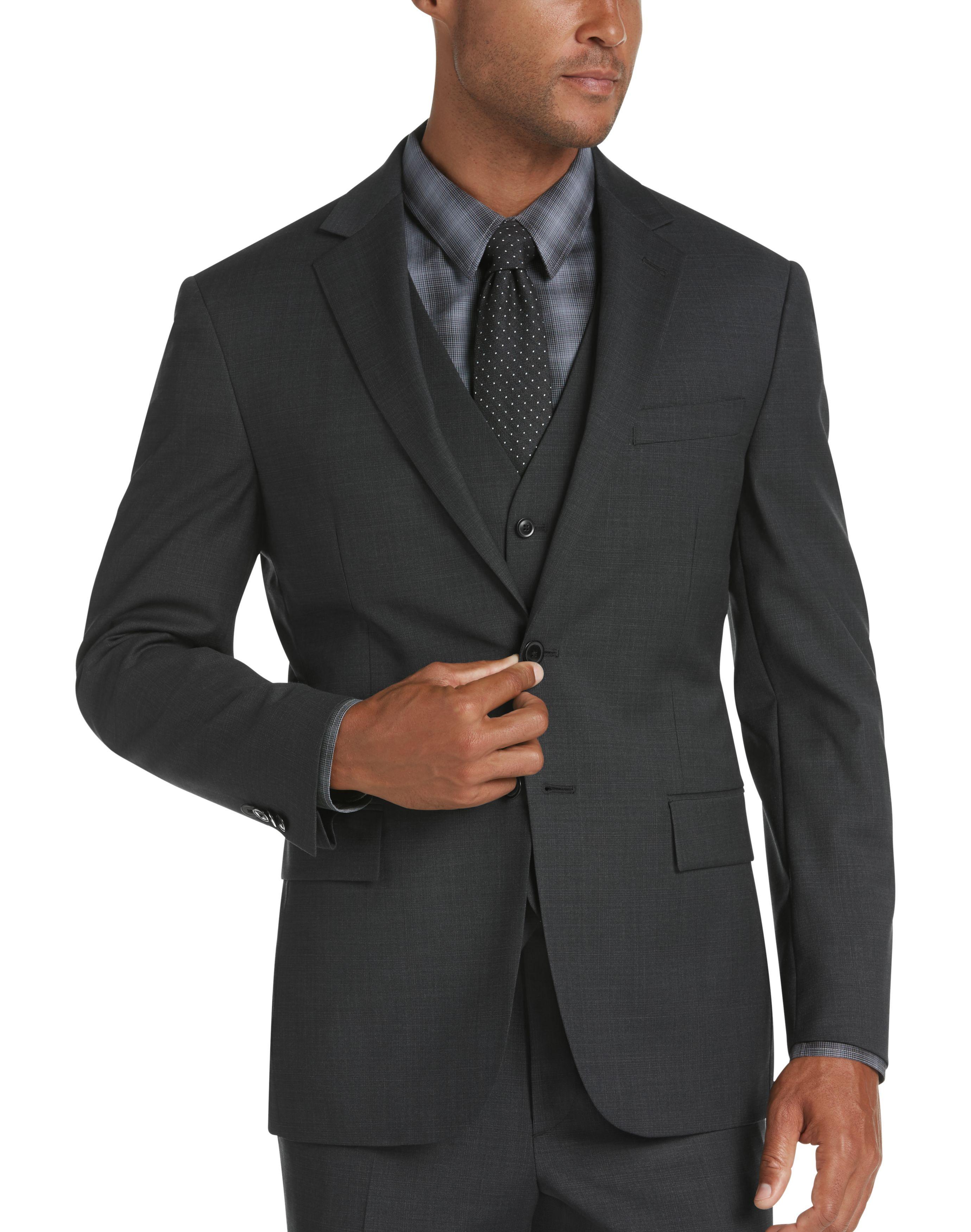 Business Suit Jacket Jacket, Pant,/& Vest Kenneth Cole REACTION Mens Skinny Fit Suit Separates