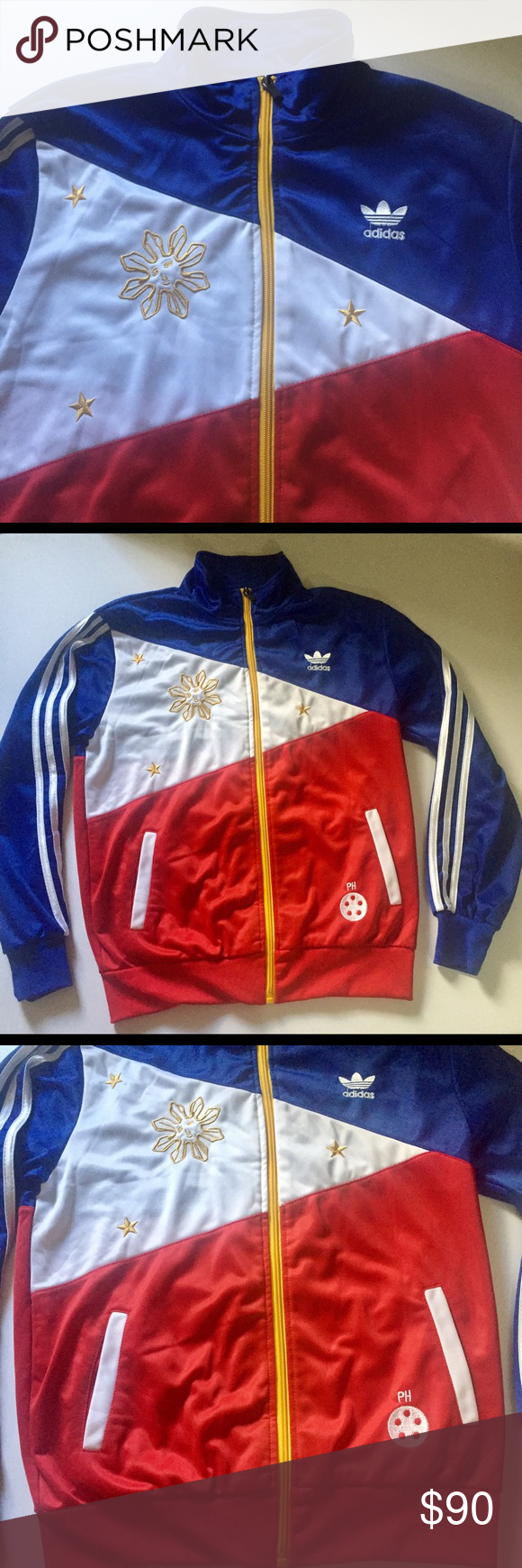 Adidas Philippine Flag Design Track Jacket Adidas
