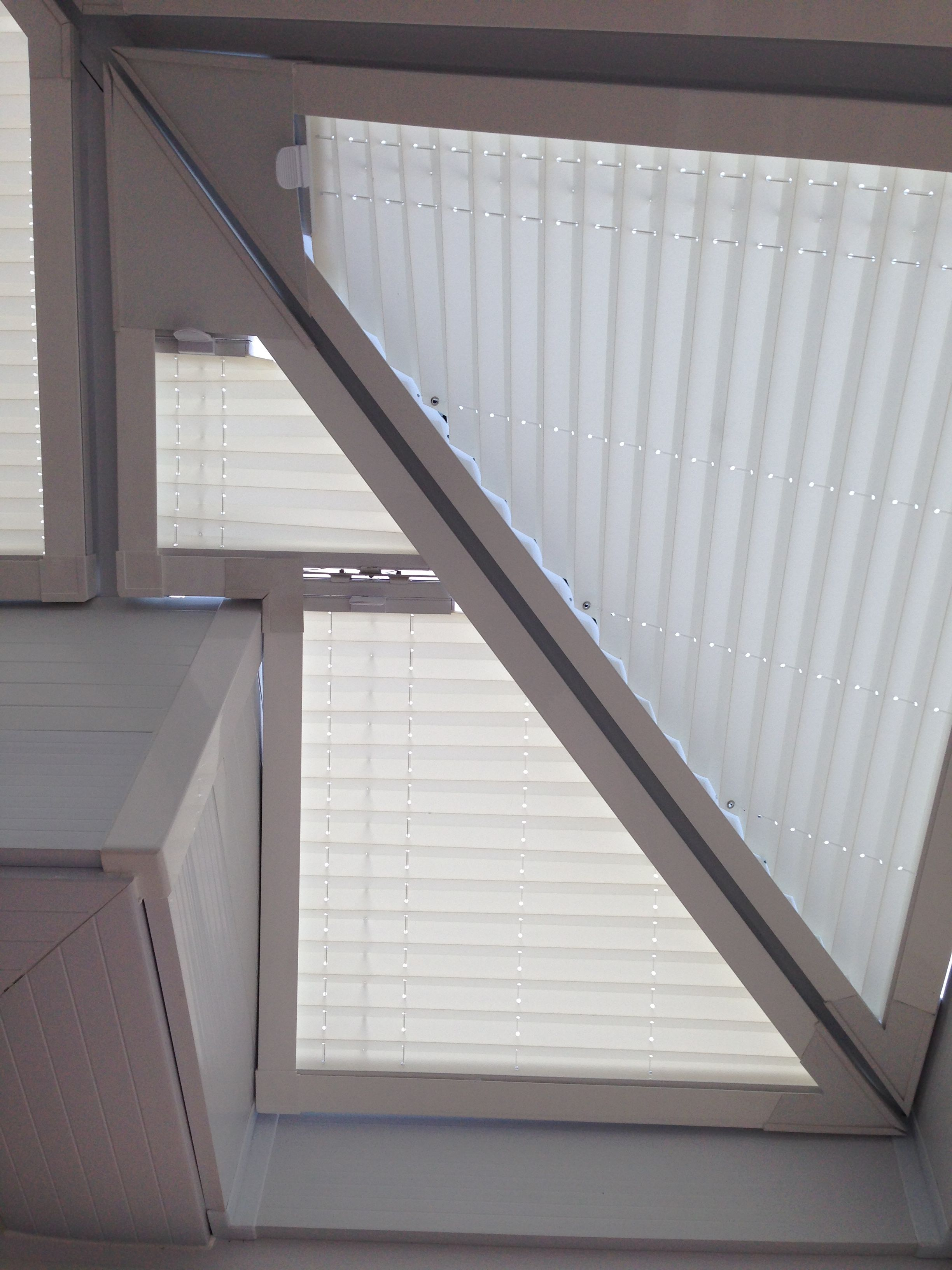 A Tricky Shaped Perfect Fit Roof Blind For A Conservatory In The Emsworth Area Blinds Conservatory Roof Blinds Custom Blinds