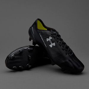 7f4e07201db Under Armour Speedform Leather FG - Black White
