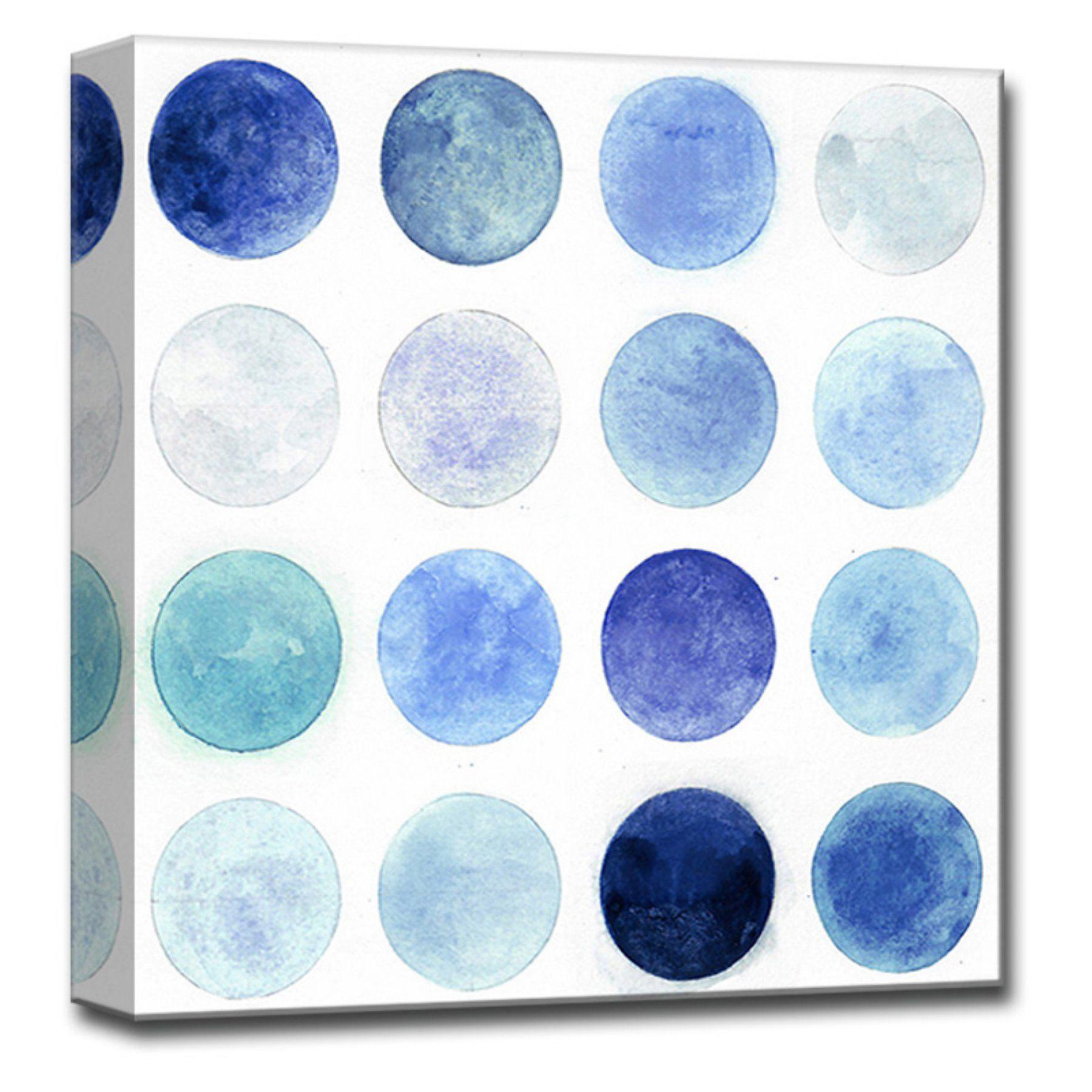 Readyhangart blue moons i canvas wall art nwagwc blue