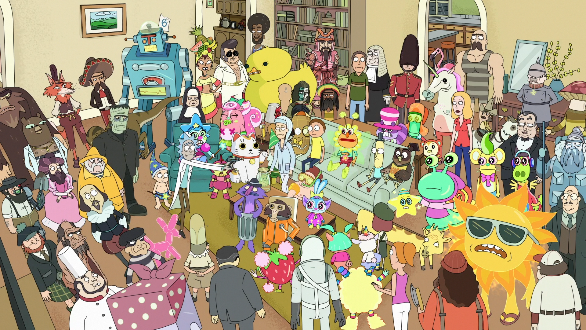 Rick Amp Morty Where Is Waldo Parasite Episode 1920x1080 Rick And Morty Poster Cartoon Wallpaper Rick And Morty