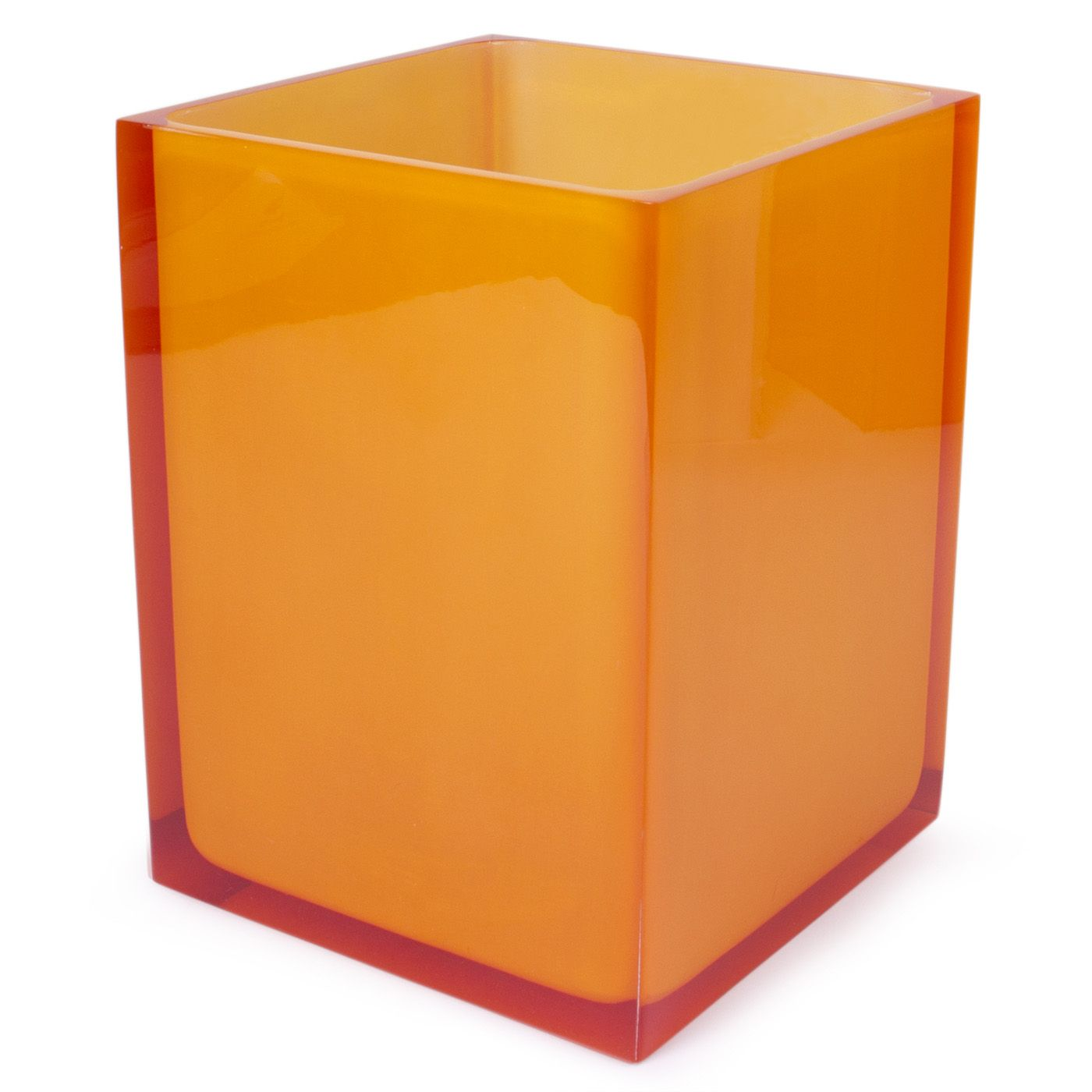 Modern Bath Accessories Orange Hollywood Trash Bin