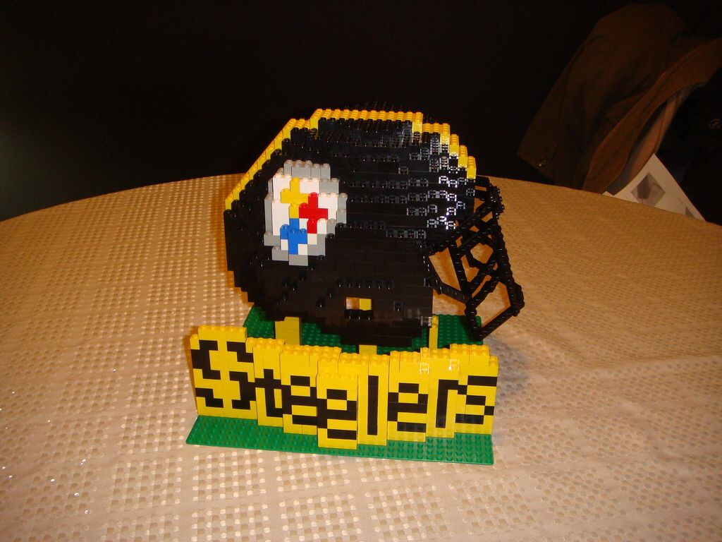 Steelers LEGO Helmet Lego football, Lego, Steelers