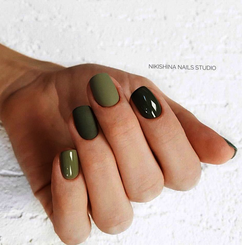 Home Blend Of Bites Green Nails Nails Trendy Nails