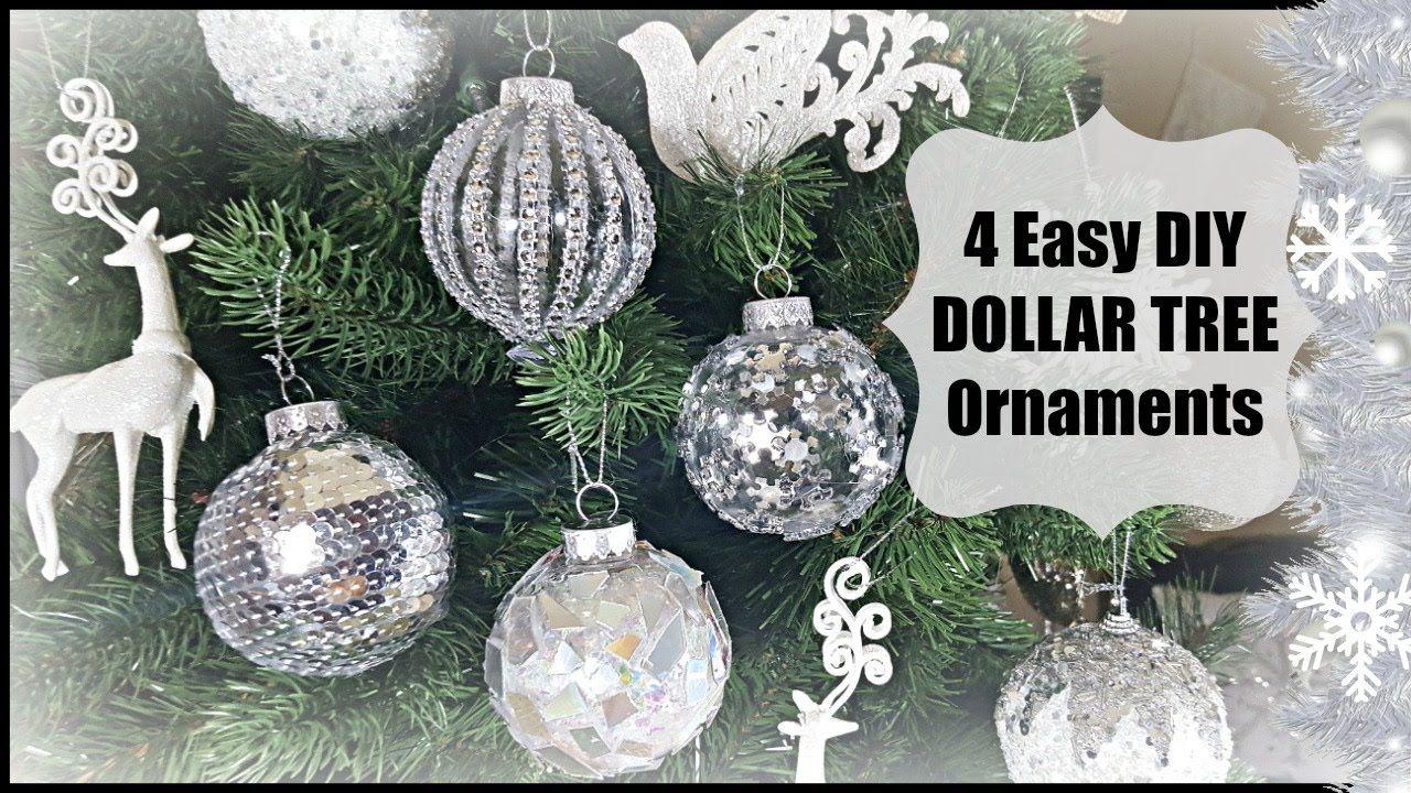 DIY DOLLAR TREE CHRISTMAS ORNAMENTS HOME DECOR EASY