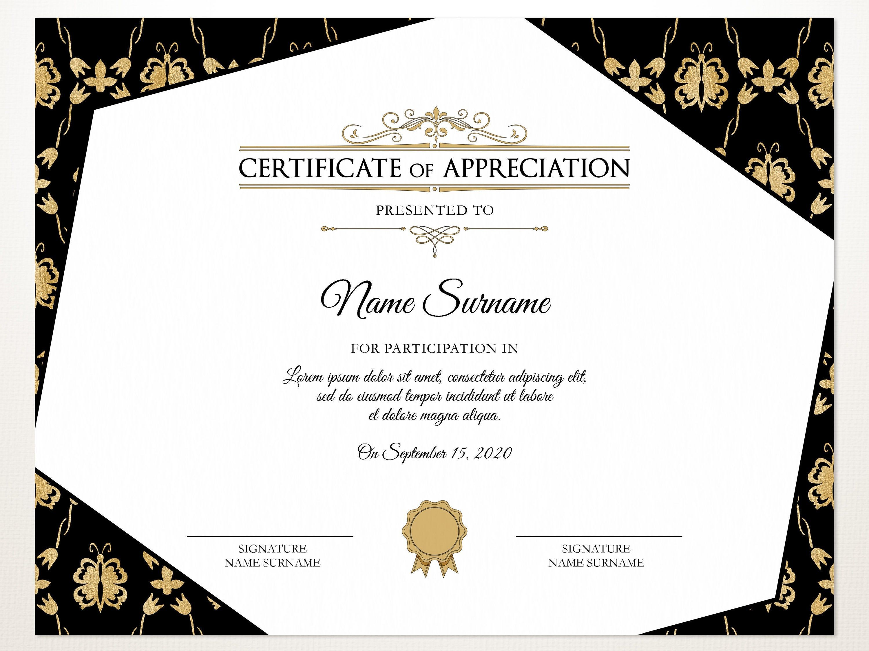 Elegant Certificate Of Appreciation Printable Certificate Editable Appreciation Certificate Template Instant Download Certificate Of Appreciation Certificate Templates Appreciation Printable