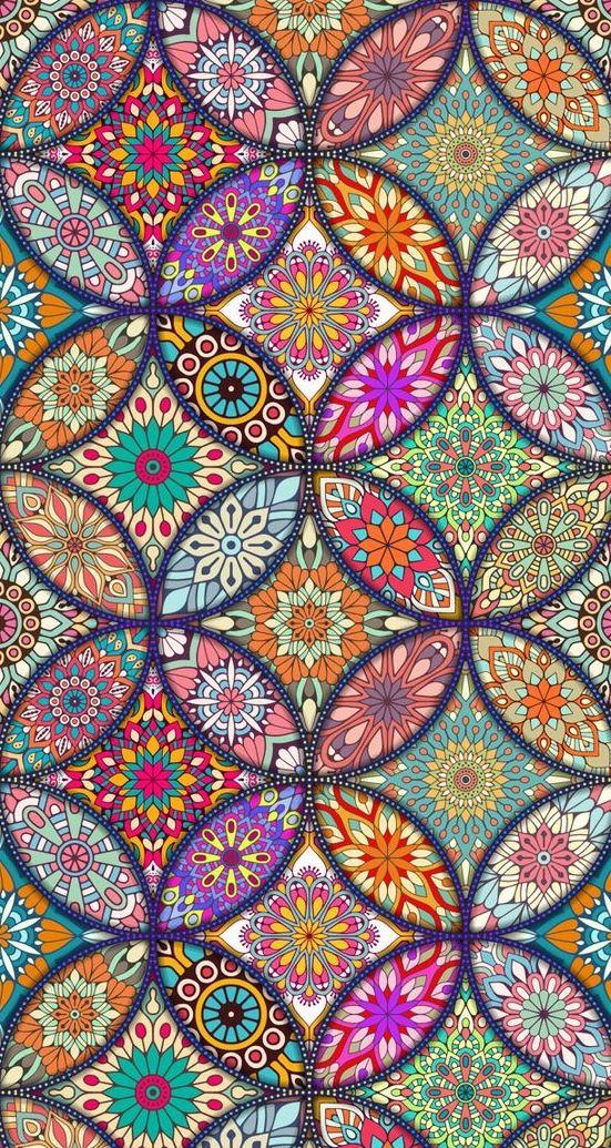 Pin By Jyotsna Taneja On Phone Cover Art Mandala Wallpaper Colorful Art Colorful Wallpaper