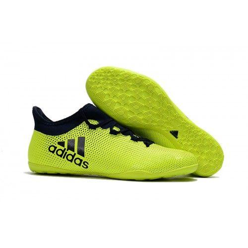 Adidas X Tango 17-3 IC Botas De Futbol Fluo Verde Negro 2a6f90404c1fa