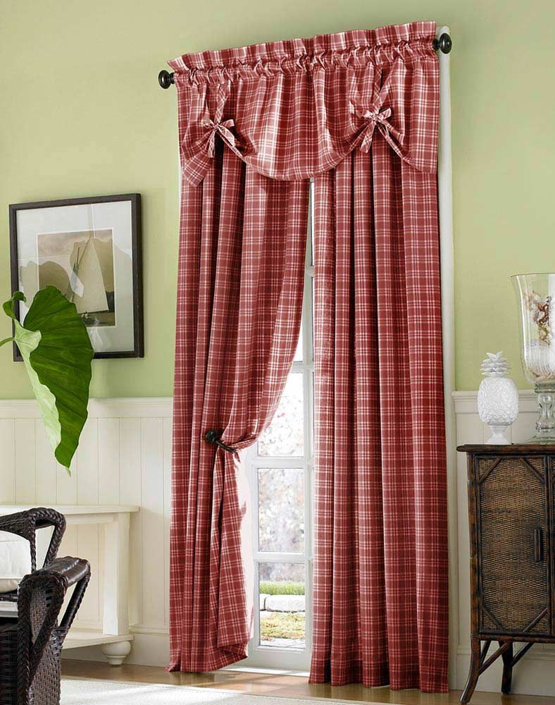 Red plaid curtains - Country Plaid Curtains I Need New Curtains